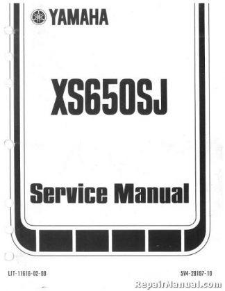1982-1983 Yamaha XS650S Heritage Motorcycle Service Manual