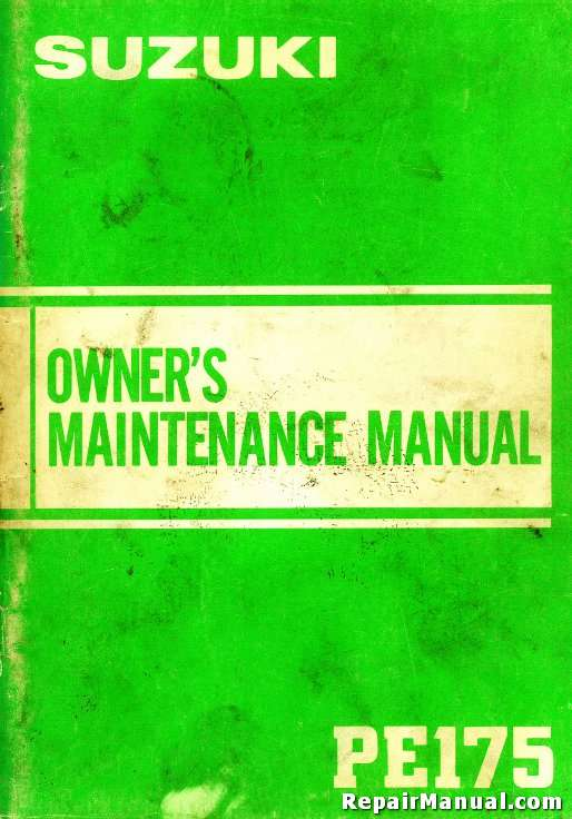 1982 1984 suzuki pe175 motorcycle owners maintenance manualSuzuki Pe 175 Wiring Diagram #15