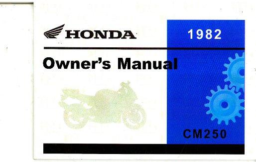 1982 honda cm250 motorcycle owners manual rh repairmanual com owner manual for honda gx160 owner manual for honda hr214