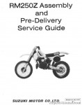 Official 1982 Suzuki RM250Z Assembly Manual