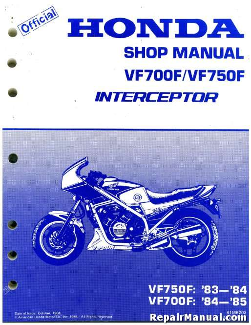 Official Honda Vf Vf Factory Service Manual Mb T on Honda Motorcycle Wiring Diagrams
