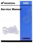 Official 1983 Honda CX650C Factory Service Manual