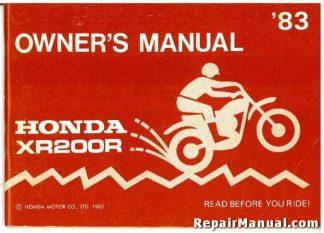 honda xr200r service repair pdf