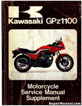 1983 Kawasaki ZX1100-A1 GPz Motorcycle Service Manual Supplement