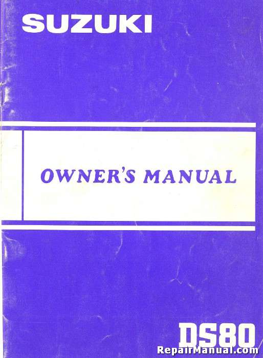 1983 Suzuki Ds80d Motorcycle Owners Manual