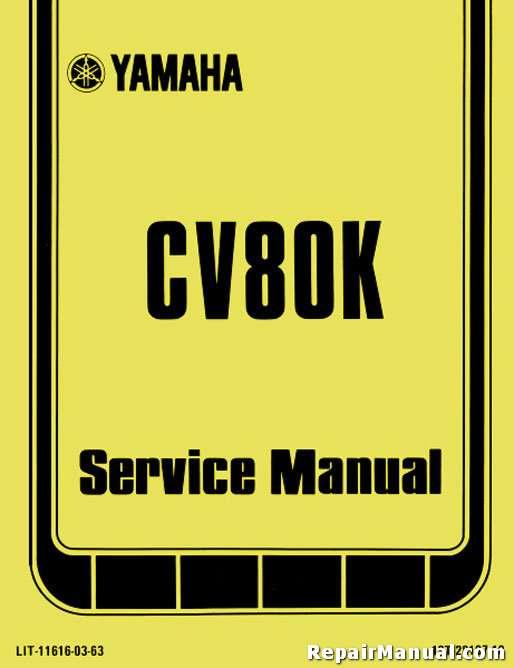 yamaha riva 80 cv80 service repair pdf