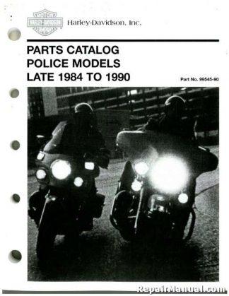 Official 1984 1/2-1990 Harley-Davidson FXRP FLHTP Parts Manual