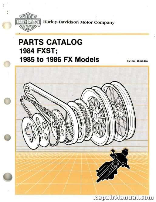 1984 1986 harley davidson fxst fx flst parts manual rh repairmanual com harley davidson 883 service manual harley davidson parts manual online