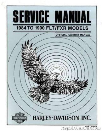 Official 1984-1990 Harley Davidson FLT FXR Service Manual