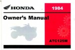 Official 1984 Honda ATC125M Owners Manual