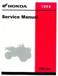 Official 1984 Honda TRX200 ATV Factory Repair Service Manual
