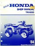 Official 1984 Honda TRX200 ATV Factory Service Repair Manual