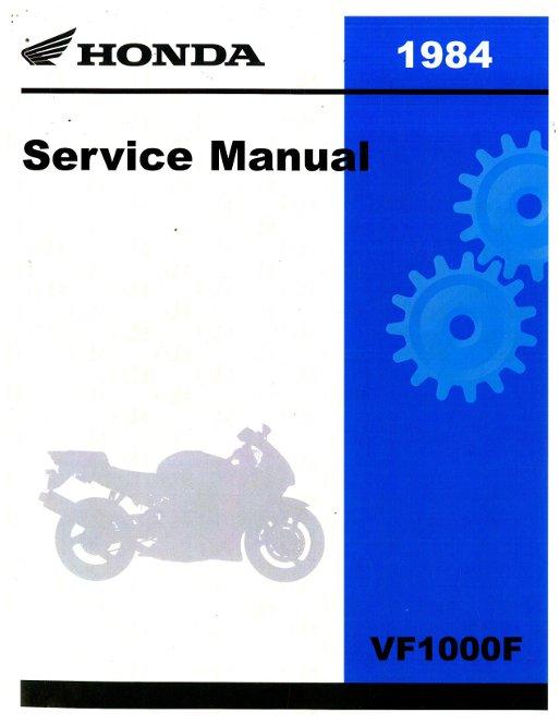 1984 Honda Vf1000f Service Manual