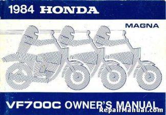 Official 1984 Honda VF700C Magna Motorcycle Owner Manual