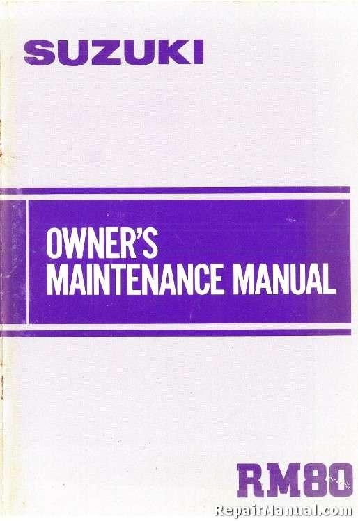 1984 suzuki rm80 motorcycle owners maintenance manual rh repairmanual com 89 Suzuki RM 80 1977 Suzuki RM 80