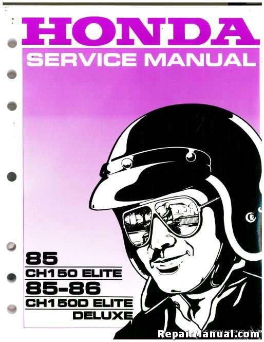 Honda Elite Ch150 Service Repair Manual 1985