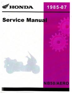 Honda nb50 service manual download