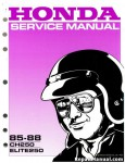 Official 1985-1988 Honda CH250 Elite Scooter Factory Service Manual