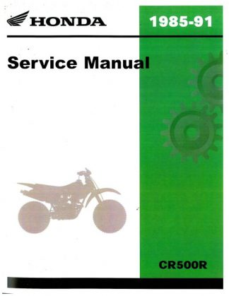 honda cr500r service manual pdf