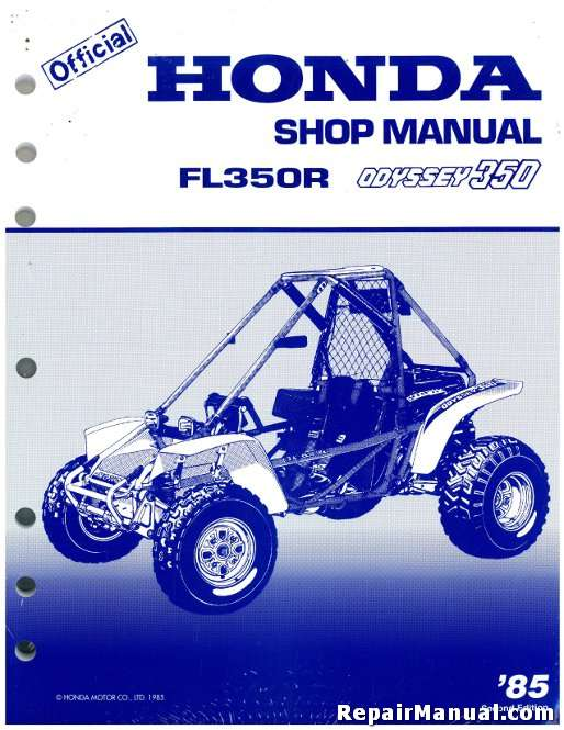 1985 Honda Fl350r Odyssey Service Manual