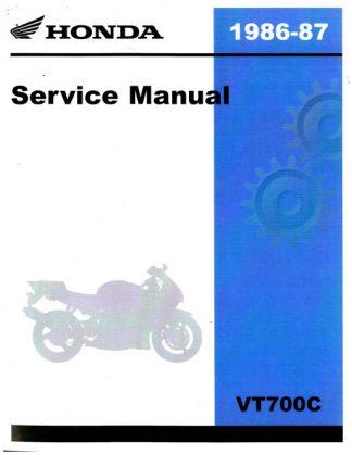 Official 1986-1987 Honda VT700C Factory Service Manual