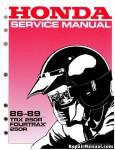 Official 1986-1989 Honda TRX250R Factory Service Manual