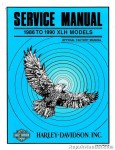 Official 1986-1990 Harley Davidson XLH 883 XLH 1100 XLH1100A Service Manual