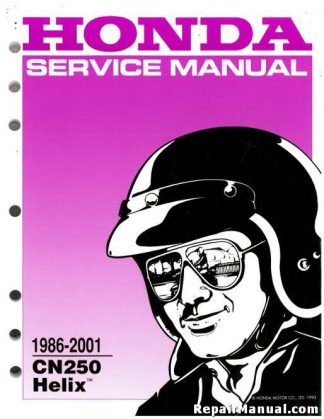 1986-2001 Honda CN 250 HELIX Scooter Service Manual