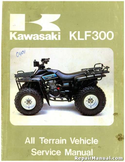 1986 1987 kawasaki klf300 bayou atv service manual. Black Bedroom Furniture Sets. Home Design Ideas
