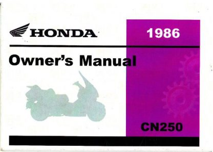 Official 1986 Honda CN250 Helix Scooter Factory Owners Manual