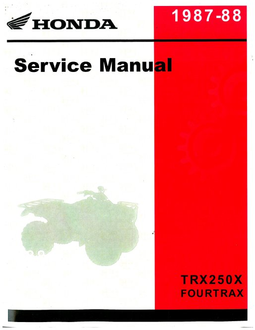 1988 honda trx250x wiring diagram 1988 image 1987 1988 honda trx250x service manual repair manuals online on 1988 honda trx250x wiring diagram