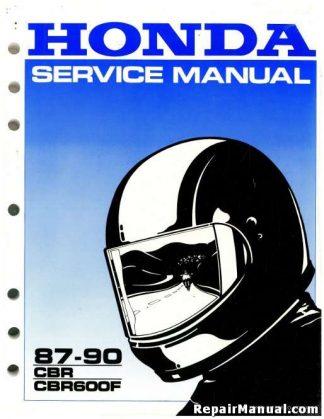 Official 1987-1990 Honda CBR600F Factory Service Manual