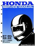 Official 1987-1996 Honda VT1100C Factory Service Manual