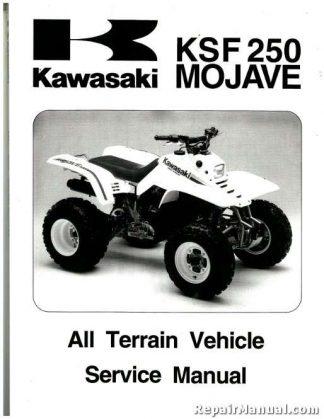 Official 1987-2004 Kawasaki KSF250A Mojave Factory Service Manual