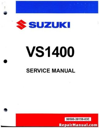 1987-2008 Suzuki VS1400 Intruder Volusia Boulevard S83 Motorcycle Service  Manual
