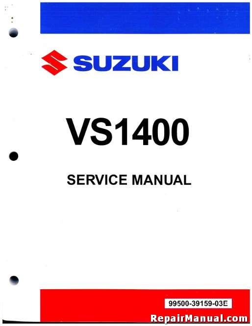 Suzuki Vs Service Manual