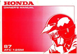 1978 honda xl75 motorcycle owners manual