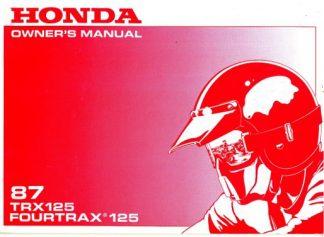 Official 1987 Honda TRX125 ATV Owner Manual