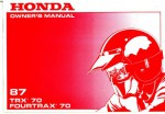 Official 1987 Honda TRX70 FourTrax 70 Factory Owners Manual
