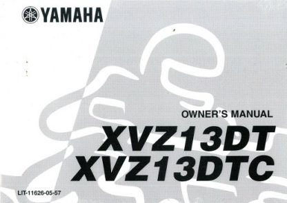 Official 1987 Yamaha XVZ13DT C Venture Royale Factory Owners Manual