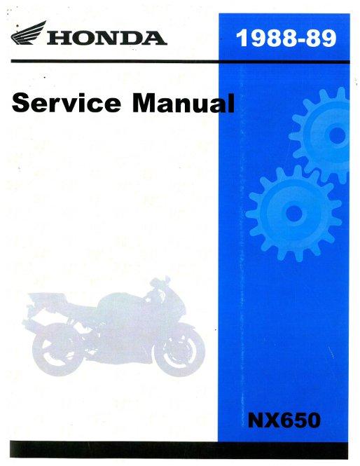 1988 1989 honda nx650 service manual rh repairmanual com manuel honda dominator manual honda nx 650 dominator