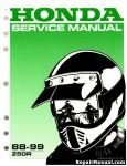 Official 1988-1999 Honda Z50R Factory Service Manual
