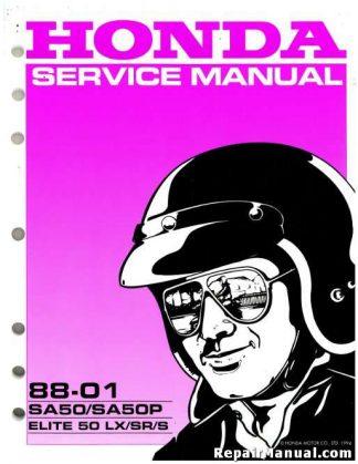 Official 1988-2001 Honda SA50 SA50P Elite Scooter Factory Service Manual