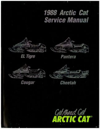 Official 1988 Arctic Cat El Tigre Pantera Cougar Cheetah Snowmobile Factory Service Manual
