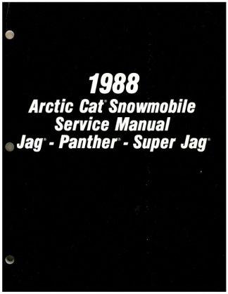 1988 Arctic Cat Jag Panther Super Jag Snowmobile Service Manual