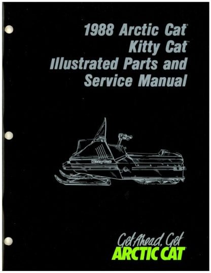 Official 1988 Arctic Cat Kitty Cat Snowmobile Factory Parts and Service Manual