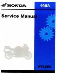 Official 1988 Honda VT800C Factory Service Manual