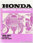 Official 1989-1990 Honda CH250 Elite Factory Service Manual