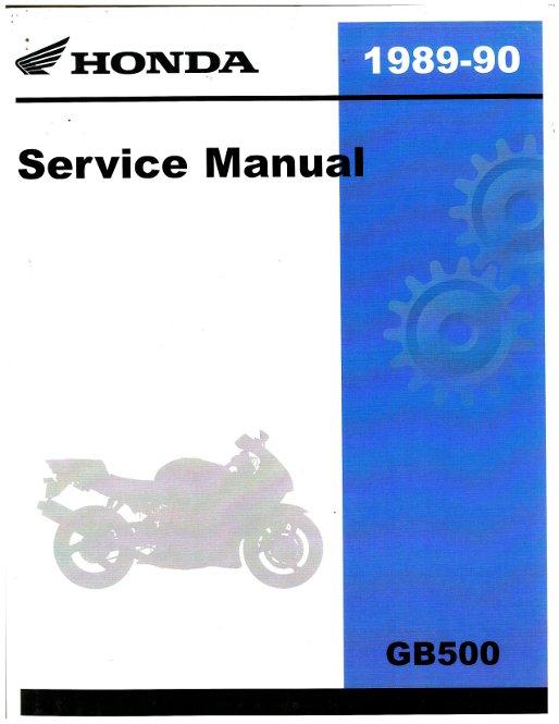 1989 1990 honda gb500 tourist trophy motorcycle service manual. Black Bedroom Furniture Sets. Home Design Ideas