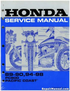 Official 1989-1998 Honda PC800 Pacific Coast Factory Service Manual